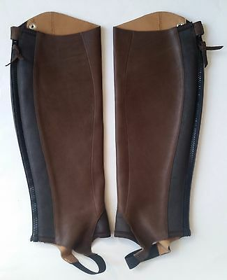 Ariat Close Contact Half Chaps Oiled Chocolate Size LT Genuine Leather