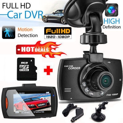 1080p HD Dash Cam Night Vision Car DVR 2.4″ LCD Camera UK G Sensor Dashboard