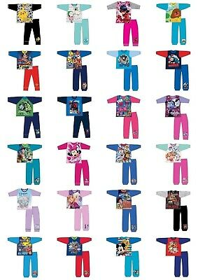 Boys Girls Kids Baby Toddler Character Pyjamas pjs Age 1-12 years