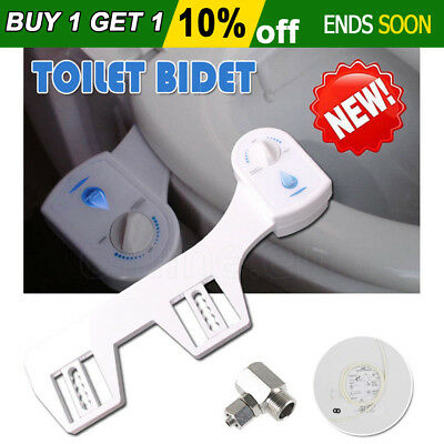2017 Toilet Bidet Seat Hygeian Spray Water Wash Clean Unisex Healthy Bathroom OZ