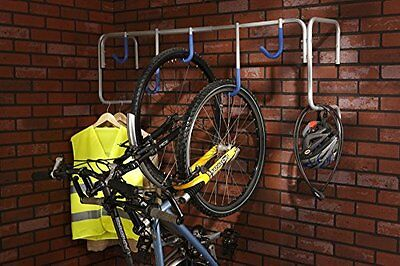 Bike Wall Mount Stand Bicycle Rack Storage Holds Up To Five bikes Home Garage