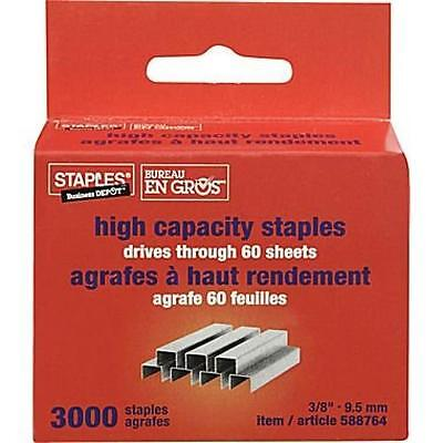 "Staples® High-Capacity Staples, 3/8"", New, Free Shipping"