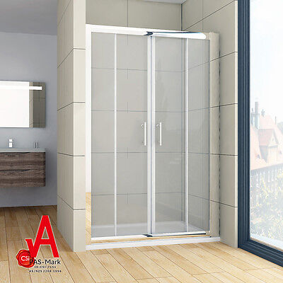1200-1700mm Double Sliding Shower Screen Doors Enclosure Wall to Wall