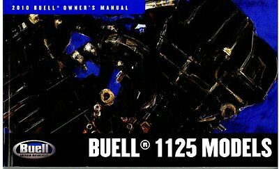 Buell - 1125 2010 Owners Manual - Brand New  - Service History Record Book