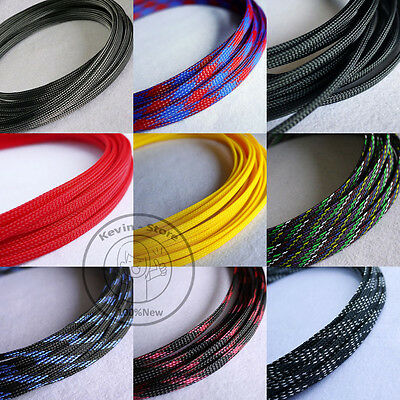 6mm New Tight Braided PET Expandable Sleeving Cable Wire Sheath (27 Color)