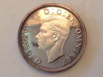- 1937 Great Britain One Crown Cameo Proof George VI coronation issue