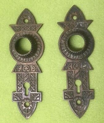 Two~ Vintage ~ Brass ~ West lake ~ Doorknob ~ Face Plate