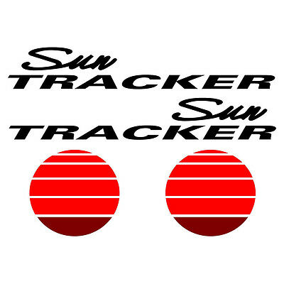 Sun tracker stickers Pontoon decals 44 x 13 inches TALL  free USA ship
