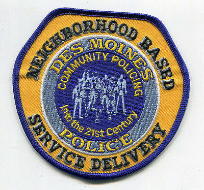 Des Moines Iowa Police Neighborhood Based Service Delivery Patch