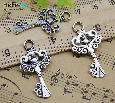 8//30//60//100pcs Retro style swallows  alloy charms pendant connector 21x17mm