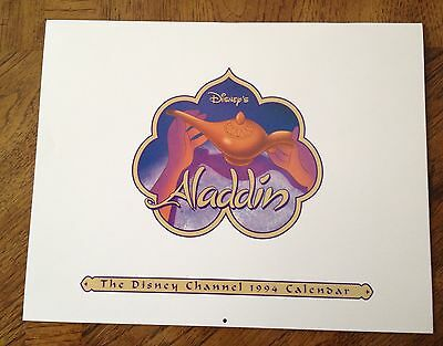 1994 Disney Channel Aladdin Calender /new