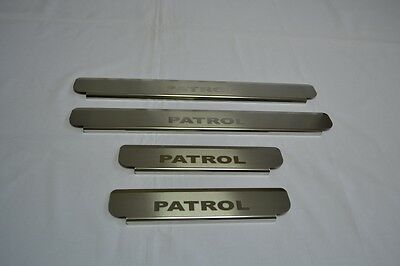 Nissan PATROL Y62 2010- Stainless Steel Door Sill Guard Scuff Protectors 4 pcs