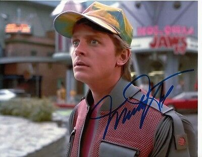 MICHAEL J FOX  Original Signed Autographed 8x10 Photo w/ COA -1