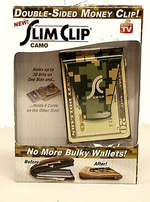 As Seen On TV Double Sided Money Slim Clip Camo