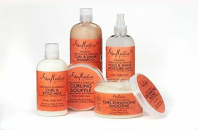 Shea Moisture Coconut & Hibiscus Shampoo/ Conditioner/ Smoothie/ Milk/ Souffle