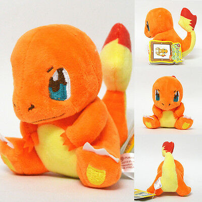 "New Pokemon Charmander Plush Stuffed Animal Soft Toy Cuddly Figure Doll 5"" Teddy"