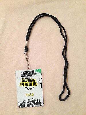 5Sos 5 Seconds Of Summer Vip Backstage Meet Pass Sounds Live Feels Tour 2016