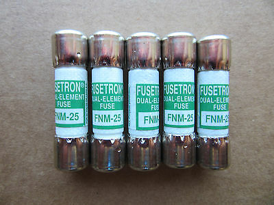 (5) Bussmann FNM-25 Fuses 25 Amp 32V or Less NEW!!! Free Shipping