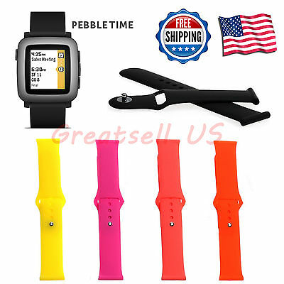 22mm Silicone Band Strap Bracelet Fitness Replacement For Pebble Time/Time Steel