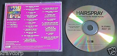 Zac Efron/John Travolta 'Hairspray Sountrack' 2007 Promo Cd
