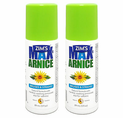 2 Zim's Max-Arnice Roll-on Gel, Soothing Natural Arnica Aloe Menthol - EXP 2017