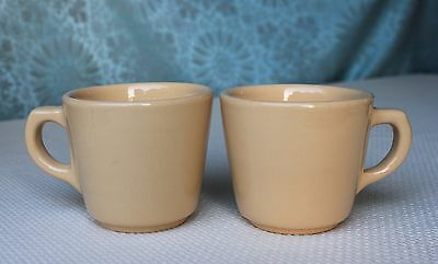 Two Allegheny/Buffalo China Restaurant Ware Coffee Cups