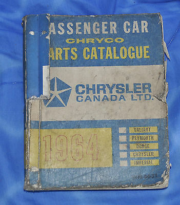 1964 Dodge Plymouth Chrysler Parts Catalogue List Factory Manual