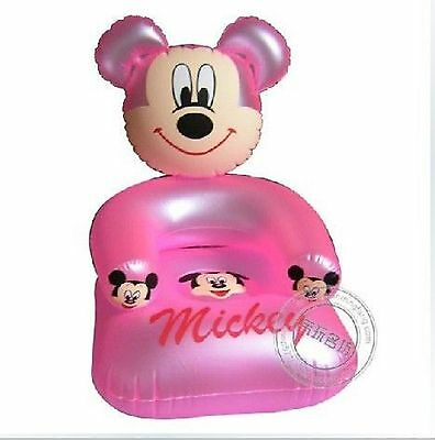 Mickey Mouse ~ Child's Inflatable Chair ~ Pink ~ 50x50x53cm ~ PVC ~ Brand New