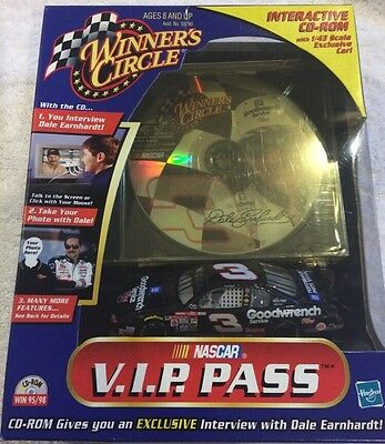 511f5125691 DALE EARNHARDT WINNER S Circle VIP Pass Interactive Cd-Rom with 1 43 ...
