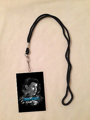 Shawn Mendes World Tour Vip Pass Lanyard Backstage All Access Rare 2016 Stitches