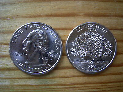 """1999d  usa state  quarter """" connecticut"""" dollar coin collectable"""