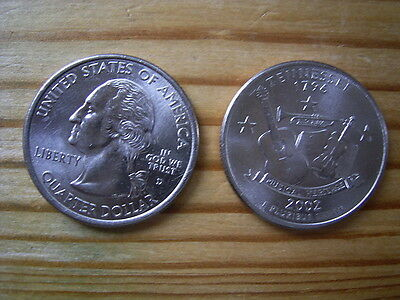 "2002d  usa state  quarter ""tennessee"" dollar coin collectable"