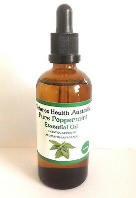 PURE PEPPERMINT OIL CERTIFIED UNCUT 100ml COLD PRESSED Therapeutic Grade