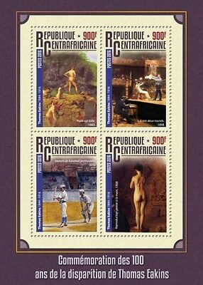 Z08 CA16313a CENTRAL AFRICA 2016 Thomas Eakins MNH
