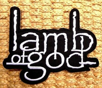 Lamb of god EMBROIDERED PATCH IRON ON or SEW. Groove death metal metalcore.