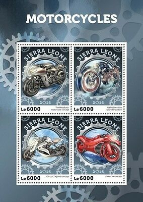 Z08 IMPERFORATED SRL16419a SIERRA LEONE 2016 Motorcycles MNH