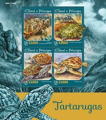 Z08 IMPERFORATED ST16205a Sao Tome and Principe 2016 Turtles MNH