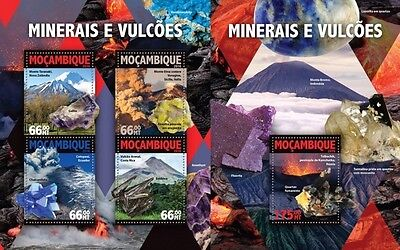 Z08 MOZ16101ab MOZAMBIQUE 2016 Minerals and volcanoes MNH Set
