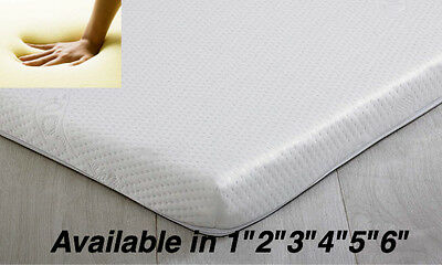"Memory Foam  Toppers With Cover In 2"",3"",4"",5"",6"" Free Delivery"