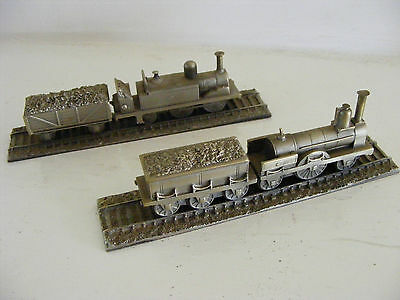 ROYAL HAMPSHIRE Pewter Miniature Trains Battersea Tank & GNR Loco 1848