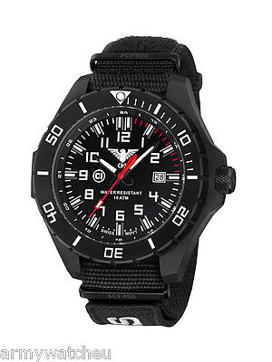 KHS Tactical Watches Infantry Men's Military Watch Analog NatoEU XTAC Band Black