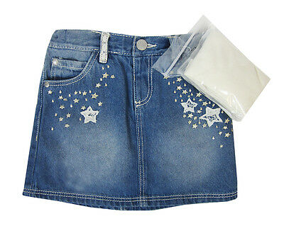 Girls Ex F&f Star Embroidered Denim Skirt & Tights Set Ages 2 To 6 Years