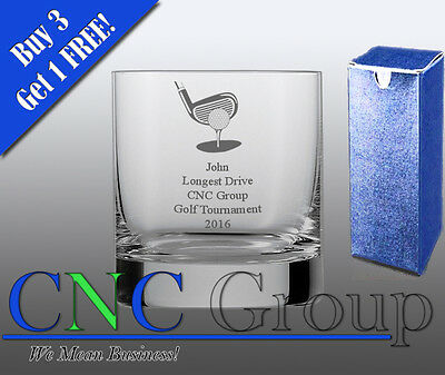 Personalised Engraved Whiskey Tumbler Golf Award Trophy Sport Tournament Gift