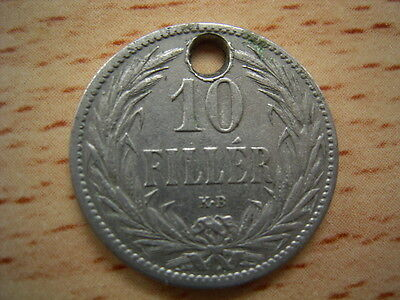 1894 Hungary 10 Filler Coin Collectable