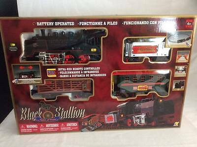 NIB REMOTE CONTROL TRAIN Infra-Red Lights ELECTRONIC Locomotion Sounds 33pce