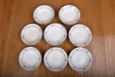 8 Vintage Edwin M Knowles China Co Garland Pattern Bowls Flower Made In USA