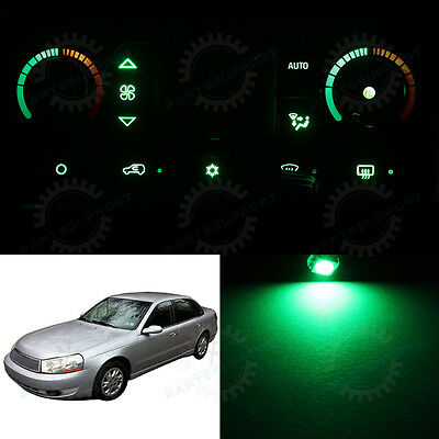 Green Climate Control AC Heater Temperature Knob LED Light Bulb for 01-03 L200