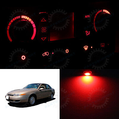Red Climate Control AC Heater Temperature Knob LED Light Bulb for 01-02 L100