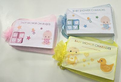 Charades - Baby Shower Game Boy Girl Unisex Neutral Party Game 24 Cards