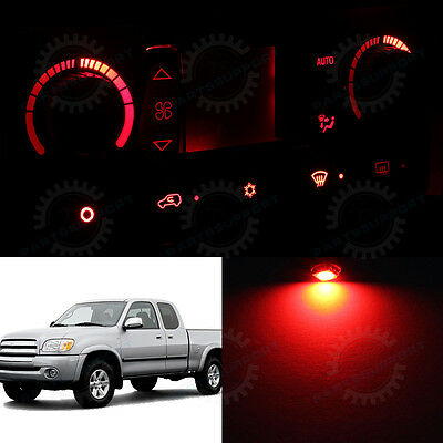 Red Climate Control AC Heater Temperature Knob LED Light Bulb for 00-06 Tundra